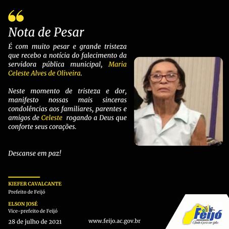 Nota de Pesar: Maria Celeste Alves de Oliveira