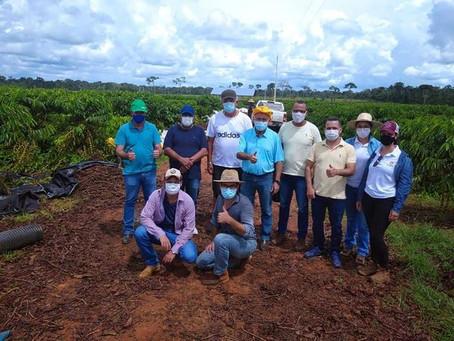 Prefeito recepciona autoridades interessadas no cultivo de café clonal acrelandense