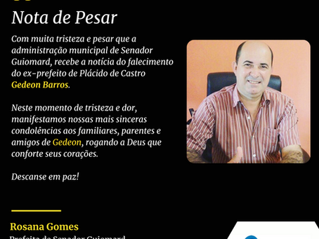 Nota de Pesar: Gedeon Barros