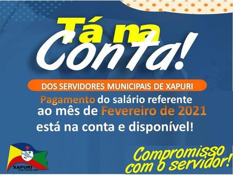 Tá na conta: prefeitura paga salário dos servidores municipais e movimento economia local
