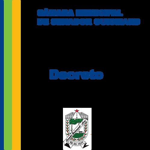 Decreto nº 257/1987- Nomear Sr. José Leite de Paula