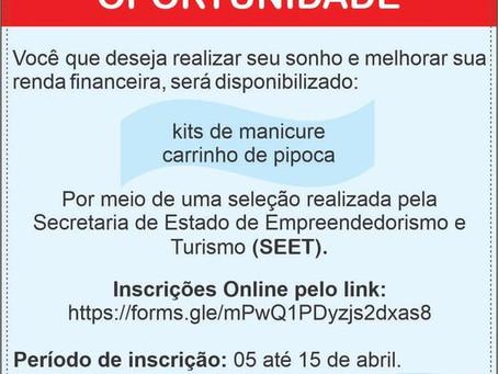 Oportunidade: Programa Empreender seleciona empreendedores para receber kit manicure e carrinho