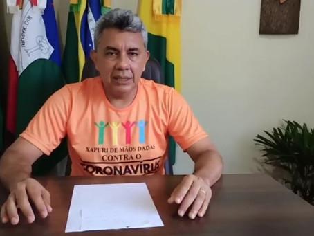 Prefeito Bira anuncia produção de máscaras, álcool em gel, em parceria com IFAC e voluntários
