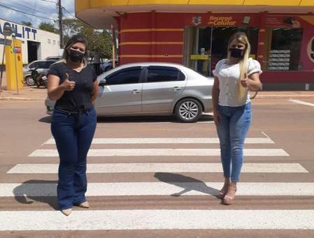 Vereadores agradecem Detran, Deracre e Prefeitura por faixas de pedestres
