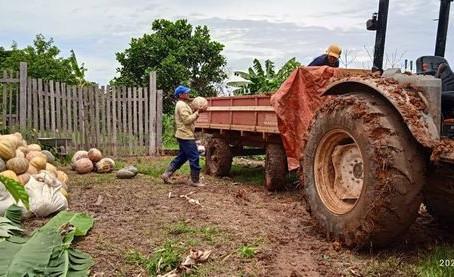 Prefeitura apoia produtores rurais do assentamento Valter Acer no escoamento da produção