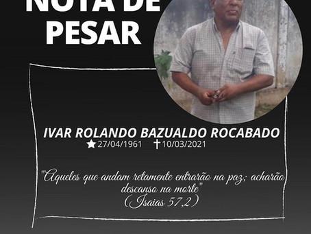 Nota de Pesar: Ivar Rolando Bezualdo Rocabado