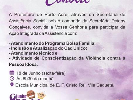 Junho Violeta: Participe da agenda com atendimentos sociais na E.F Cristo Rei - Vila Caquetá
