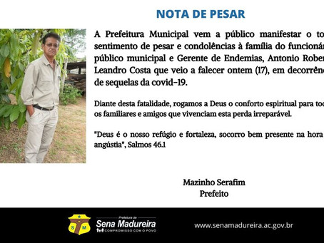 Nota de Pesar: Antonio Roberto Leandro Costa