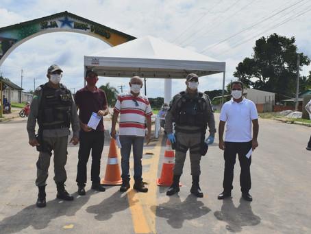 Rodrigues Alves - Prefeitura cria duas barreiras e realiza ação preventiva à Covid-19
