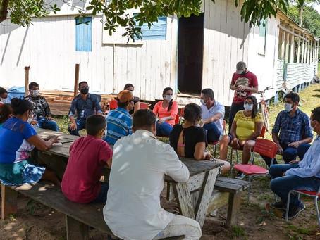 Prefeito André Maia visita instalações da Escola Rural Luiz de Queiroz Nogueira