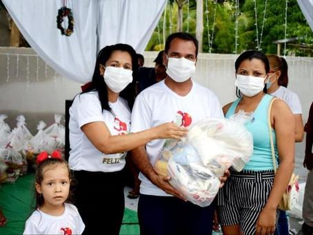 Prefeitura de Rodrigues Alves entrega cestas básicas as famílias de baixa renda e vulneráveis