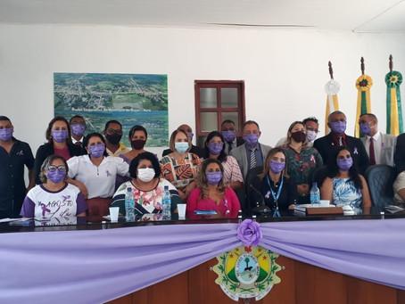 Autoridades bujarienses prestigiam sessão solene em alusão a Campanha Agosto Lilás