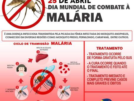 25 de abril - Dia mundial de combate a Malária