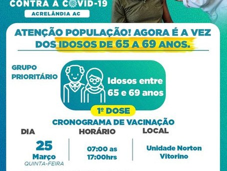 Campanha de vacinação contra a covid-19 em Acrelândia