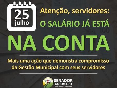 Prefeitura de Senador Guiomard anuncia pagamento já esta na conta dos servidores municipais