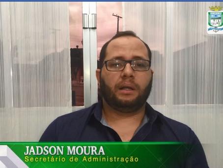 Secretário de Administração, Jadson Moura, explica decreto de enfrentamento ao novo coronavírus