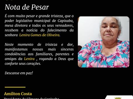 Nota de Pesar: Lenira Gomes de Oliveira