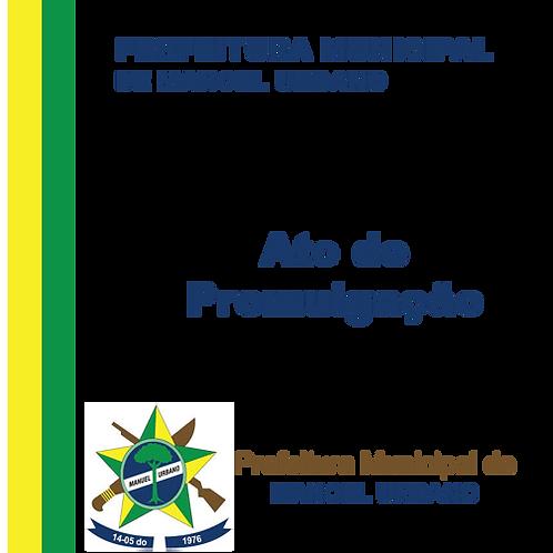 ATO DE PROMULGAÇÃO Nº 02/2019