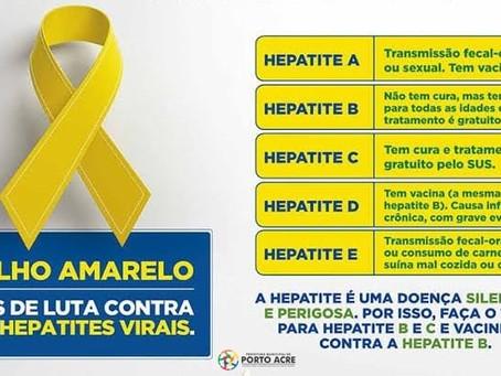Vacinação contra hepatites virais, venha se imunizar já!