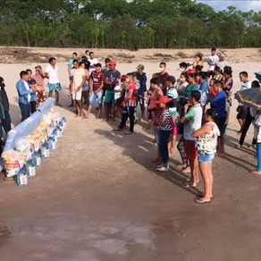 Prefeitura e Defesa Civil entregam donativos e famílias ribeirinhas do Alto Juruá, rios e igarapés