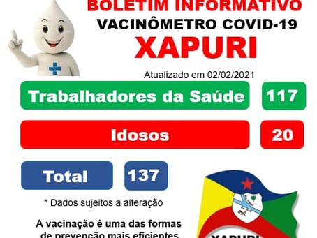 Boletim informativo do Vacinômetro covid-19