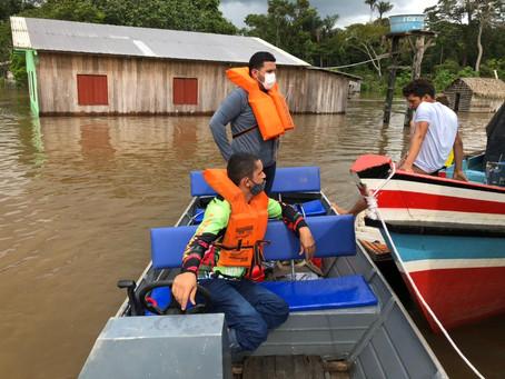 Prefeitura de Rodrigues Alves vistoria comunidades atingidas pela cheia do Rio Paraná dos mouras