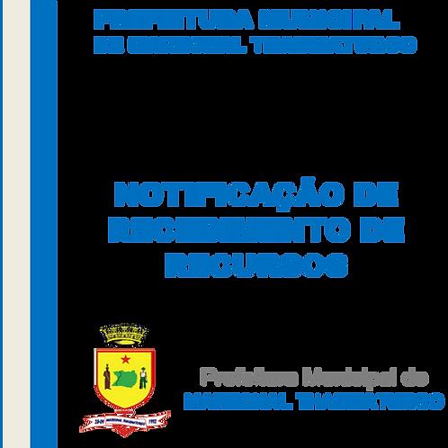 Recurso recebido - Calha Norte/SICONV 842880/2017 Const. Centro Administrativo