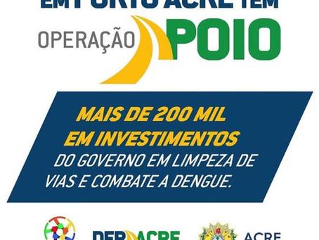 Porto Acre tem apoio de 200 mil reais do governo para limpeza de vias e combate a dengue