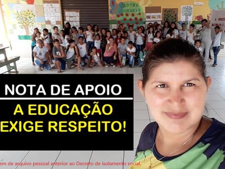 Prefeitura de Porto Acre e Secretaria Municipal de Educação e Cultura-SEMEC. Nota de Apoio
