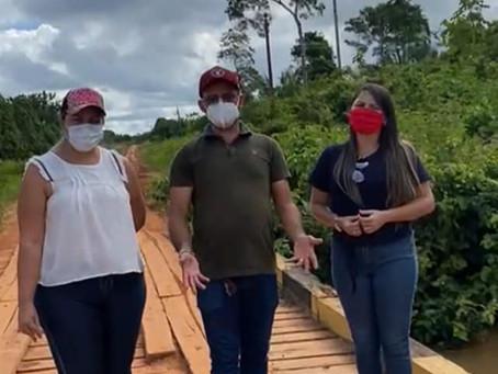 Vereadores reivindicam melhorias para o ramal Nova Aldeia
