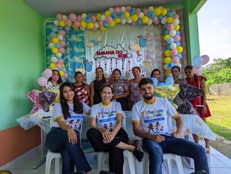 Pela 1° vez ações da semana do bebê são levadas a comunidades ribeirinhas de Marechal Thaumaturgo