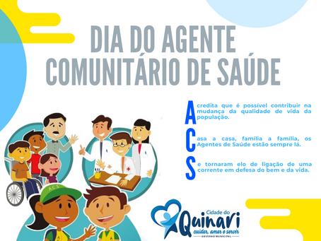 Prefeita Rosana Gomes parabeniza todos os ACS e AGE Guiomarenses neste dia especial