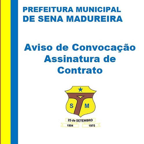 Convocação - Assinatura de Contrato - Manoel de Jesus Leite Silva