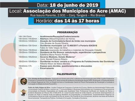 Chefe de Gabinete Adjames Lima participa de capacitações para implantação de Ouvidoria Municipal
