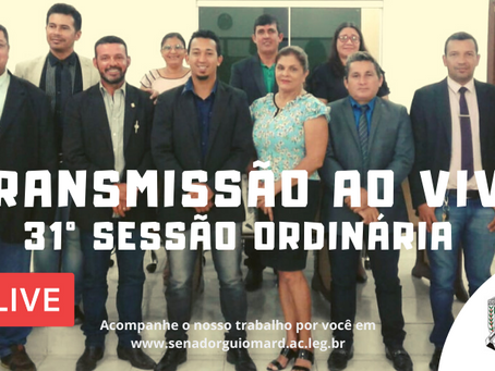 31° Sessão Ordinária, 26 de novembro de 2019 (terça)