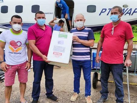 Prefeitura de Jordão recebe quase mil doses para imunização contra covid-19