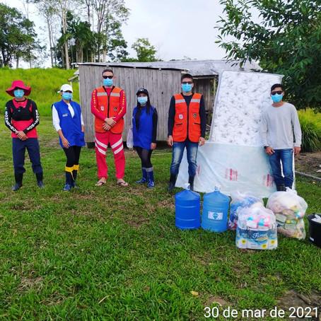 Operação assistência humanitária as famílias ribeirinhas atingidas pela alagação, continua!