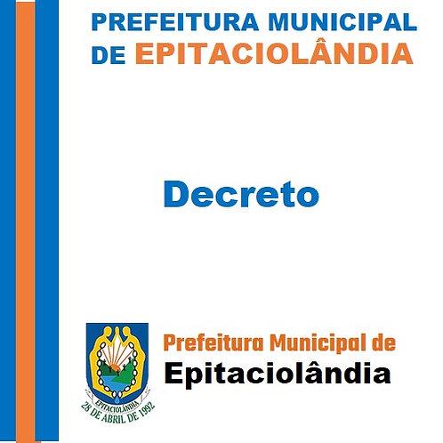 Decreto N° 013/2021 Calendário de Feriados e Pontos facultativos do ano de 2021