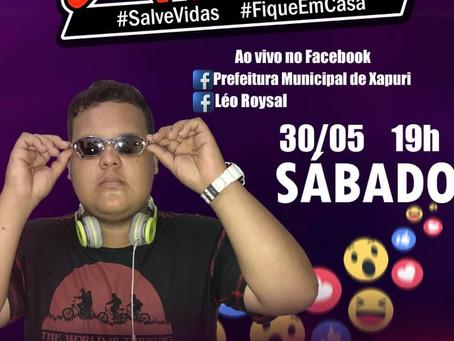 Projeto Live Canta Xapuri, hoje,  30 de maio de 2020 as 19 horas