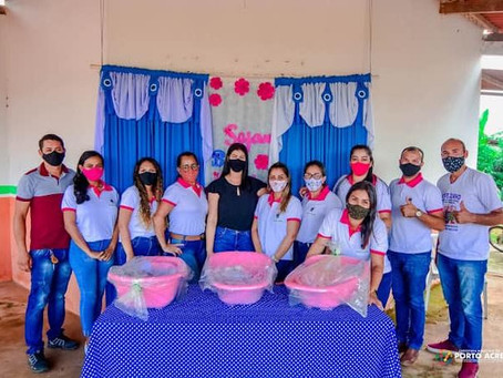 Prefeitura de Porto Acre entrega kit's Bebê nas Vilas: Pia, Caquetá, Incra, V e Sede