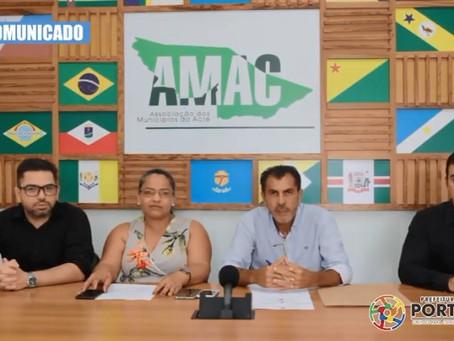 Prefeito Bené Damasceno faz pronunciamento a população portoacrense sobre o coronavírus