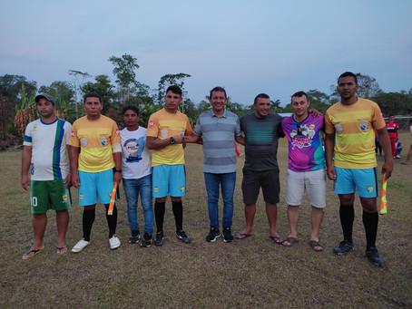 Prefeito Naudo Ribeiro e Prefeito Isaac Pyãko, participam de evento esportivo