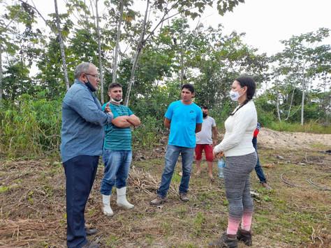 Secretária de Educação fiscaliza obra de reforma e ampliação da Escola Eduardo Santos Morais