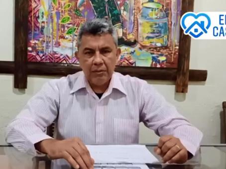 Prefeito Bira Vasconcelos anuncia suspensão das aulas até 31 de maio