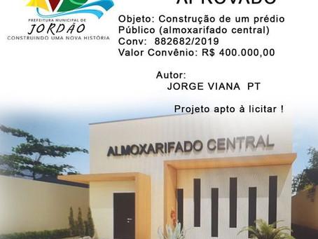 Projeto Aprovado: Construção de um prédio Público (almoxarifado central)