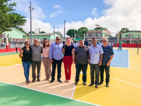 Entrega da obra de revitalização da Quadra Poliesportiva Hermílio Generoso e entorno