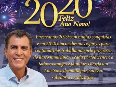Prefeito Bené Damasceno deseja um feliz ano novo a população portoacrense