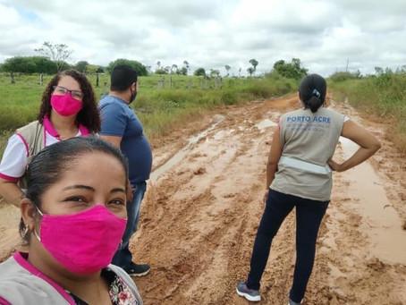 Equipe do sistema de Assistência Social realizam atendimentos na Vila do Caquetá