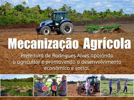 Prefeitura de Rodrigues Alves beneficia a agricultura familiar com a mecanização agrícola