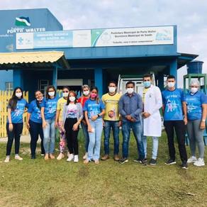 Atendimento médico e serviços assistenciais são oferecidos a moradores da zona rural em Porto Walter
